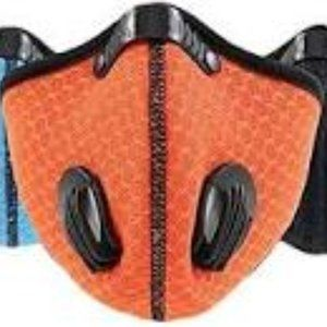 Mens Orange Breathable Xercise Mask 2 Exhale Valve